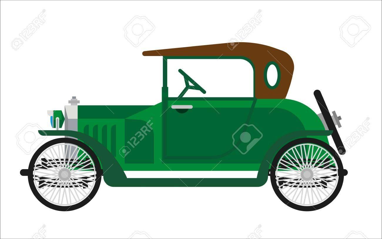 Old Car Or Vintage Retro Automobile Vehicle. Antique Century ...