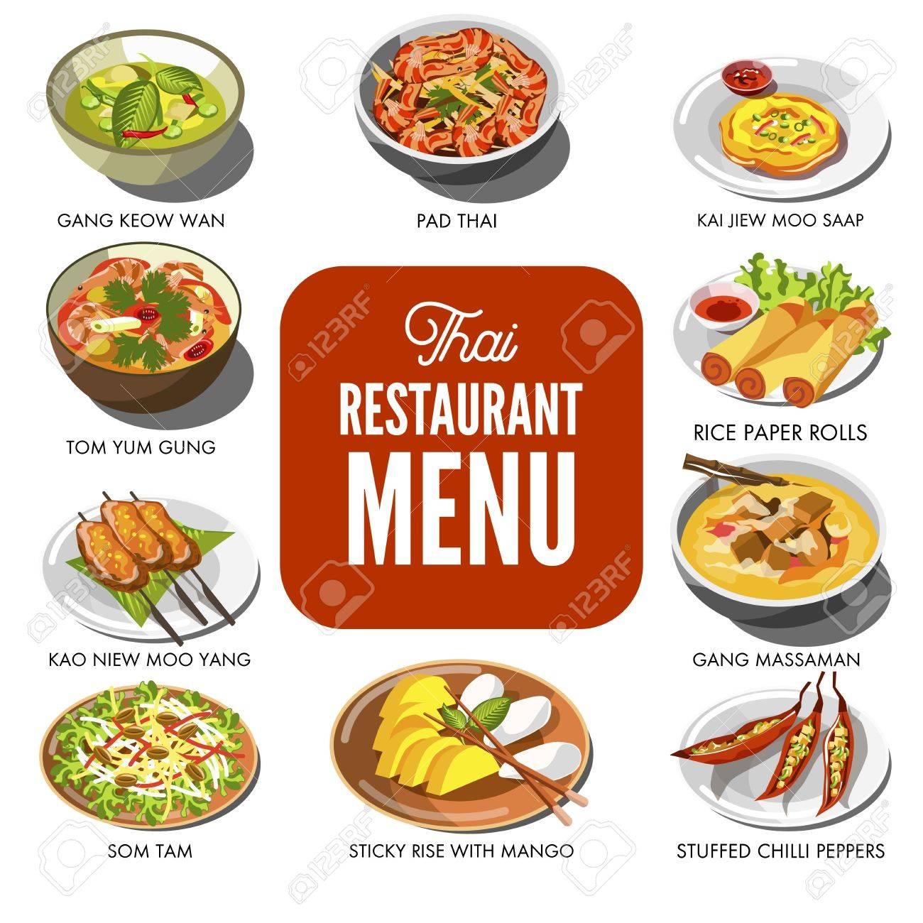 thailand thai cuisine menu