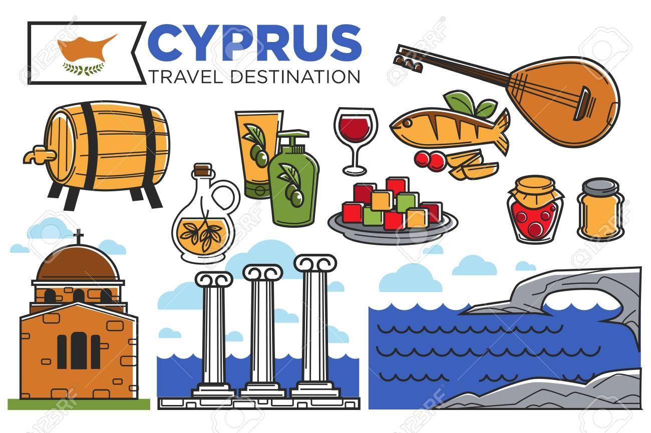 Nicosia Cypriot Republic Travel Country Silhouettes Cyprus Unisex Apron
