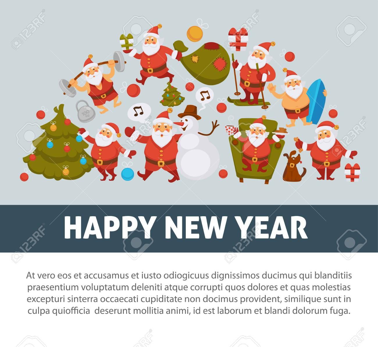 Y Con Feliz Año Cláusulas Traje TradicionalDeportivo Cartel BañadorMuñeco Papá Nieve Nuevo 2018 SombreroÁrbol De En Noel KlFc3T1J