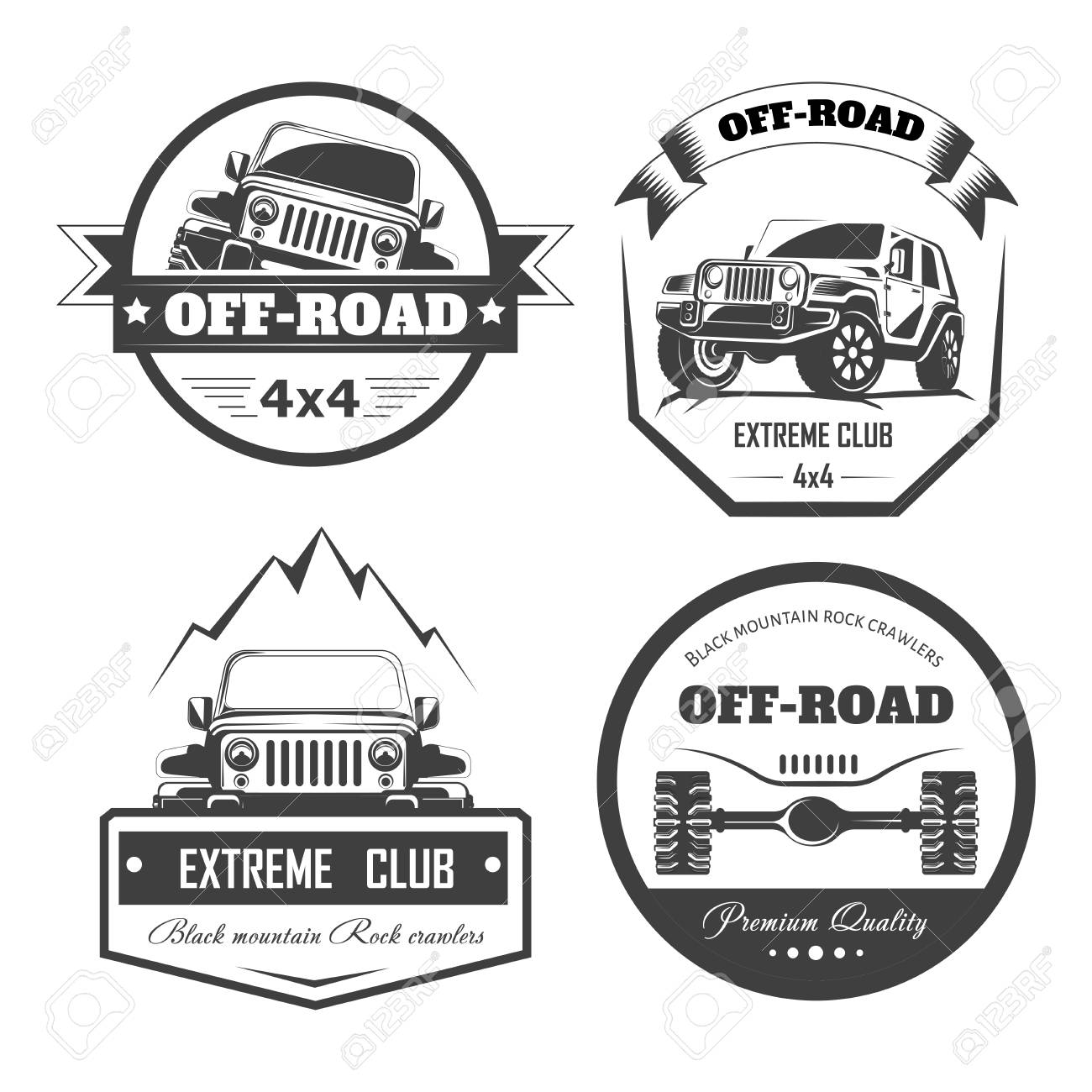 Offroad X Extreme Car Club Logo Templates Vector Symbols - 4x4 label template