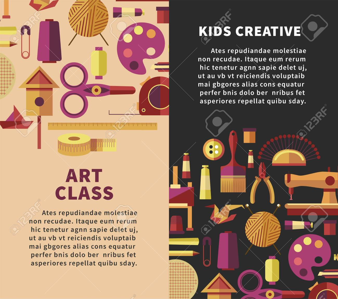 Creative Art Vector Poster For Kids Diy Projects Or Handicraft