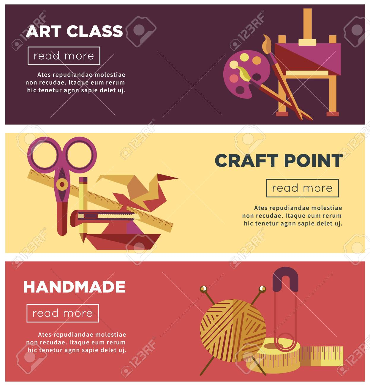 Art Class Craft Point And Handmade Projects Poster Template Royalty