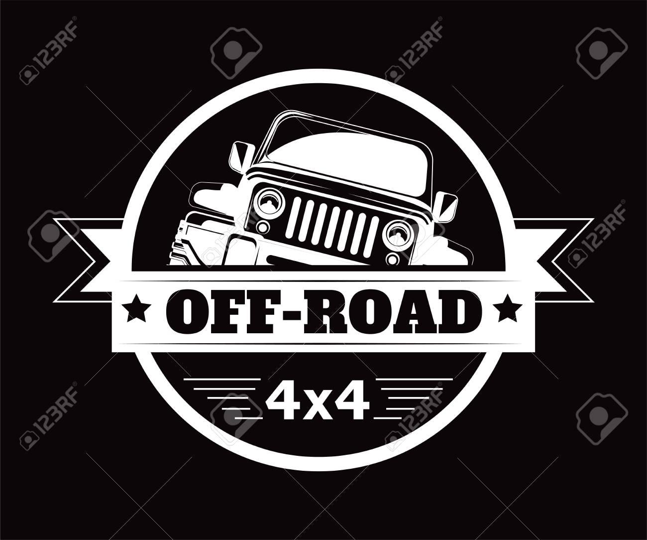 Off-road 4x4 extreme car adventure club vector icon - 102927681