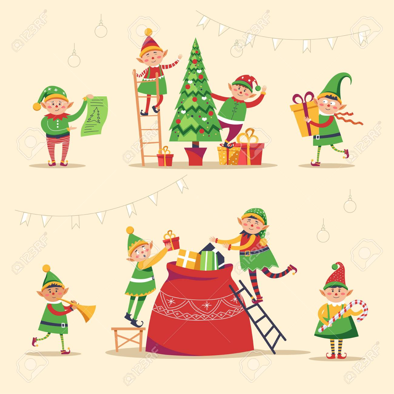 Getting Ready for Christmas Clip Art