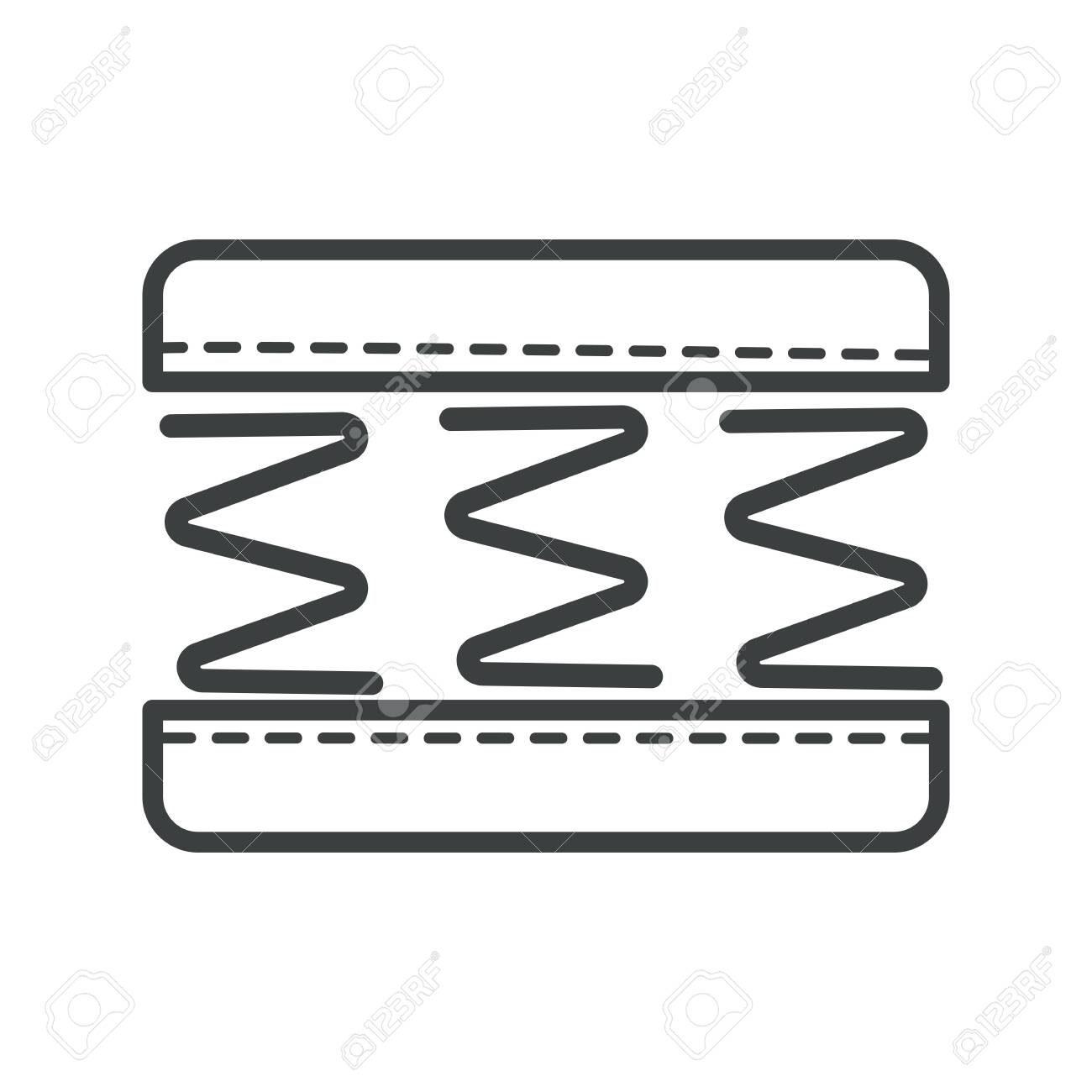 Orthopedic Mattress With Springs And Memory Foam Isolated Icon Royalty Free Cliparts Vectors And Stock Illustration Image 130367041