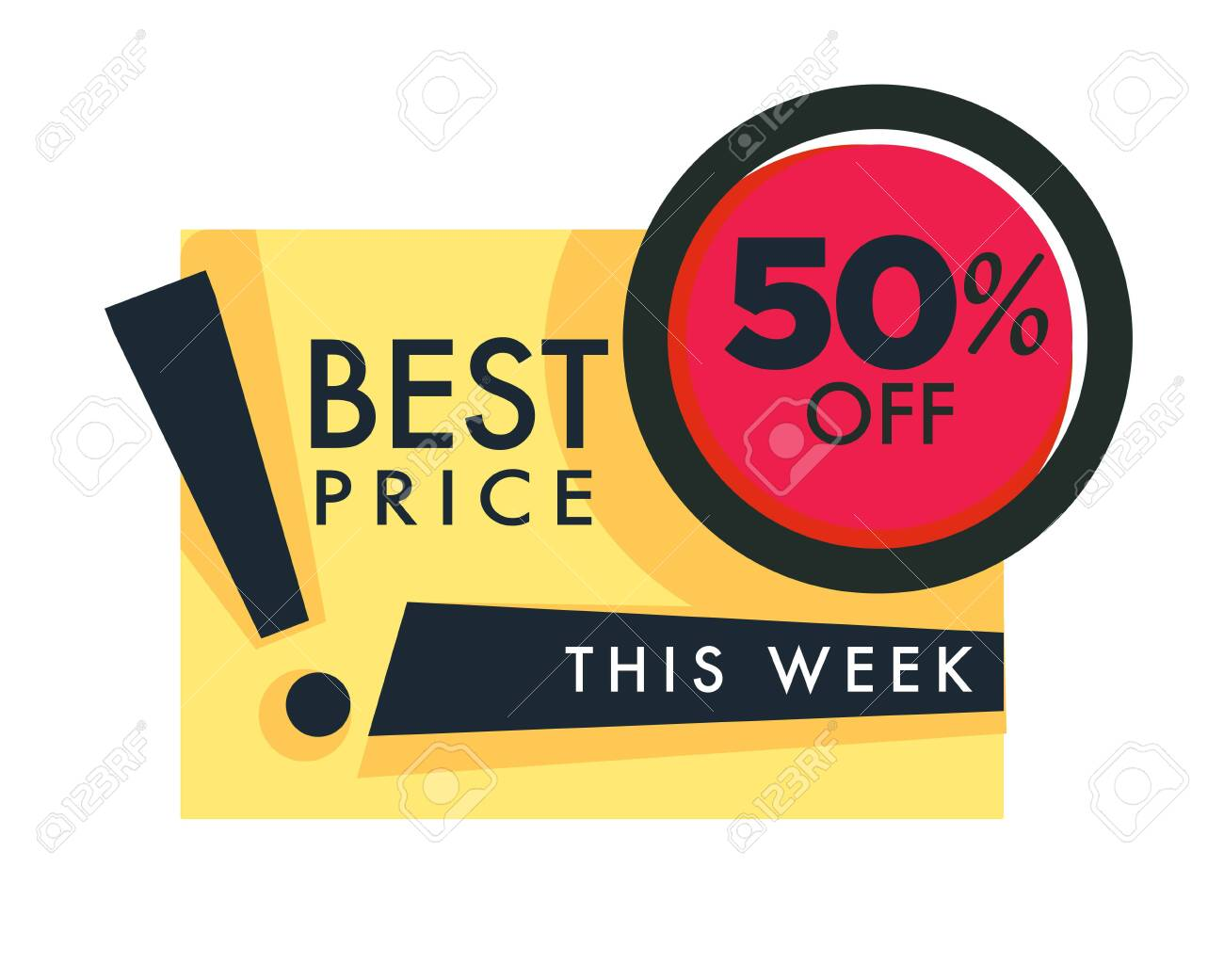 Weekend Sale And Discount Best Price 50 Off Isolated Icon Vector Royalty Free Cliparts Vectors And Stock Illustration Image 132868664