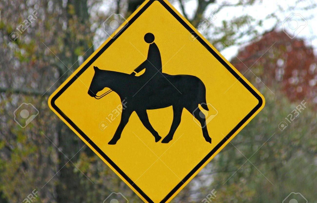 Horse Crossing Sign Horse Crossing Sign