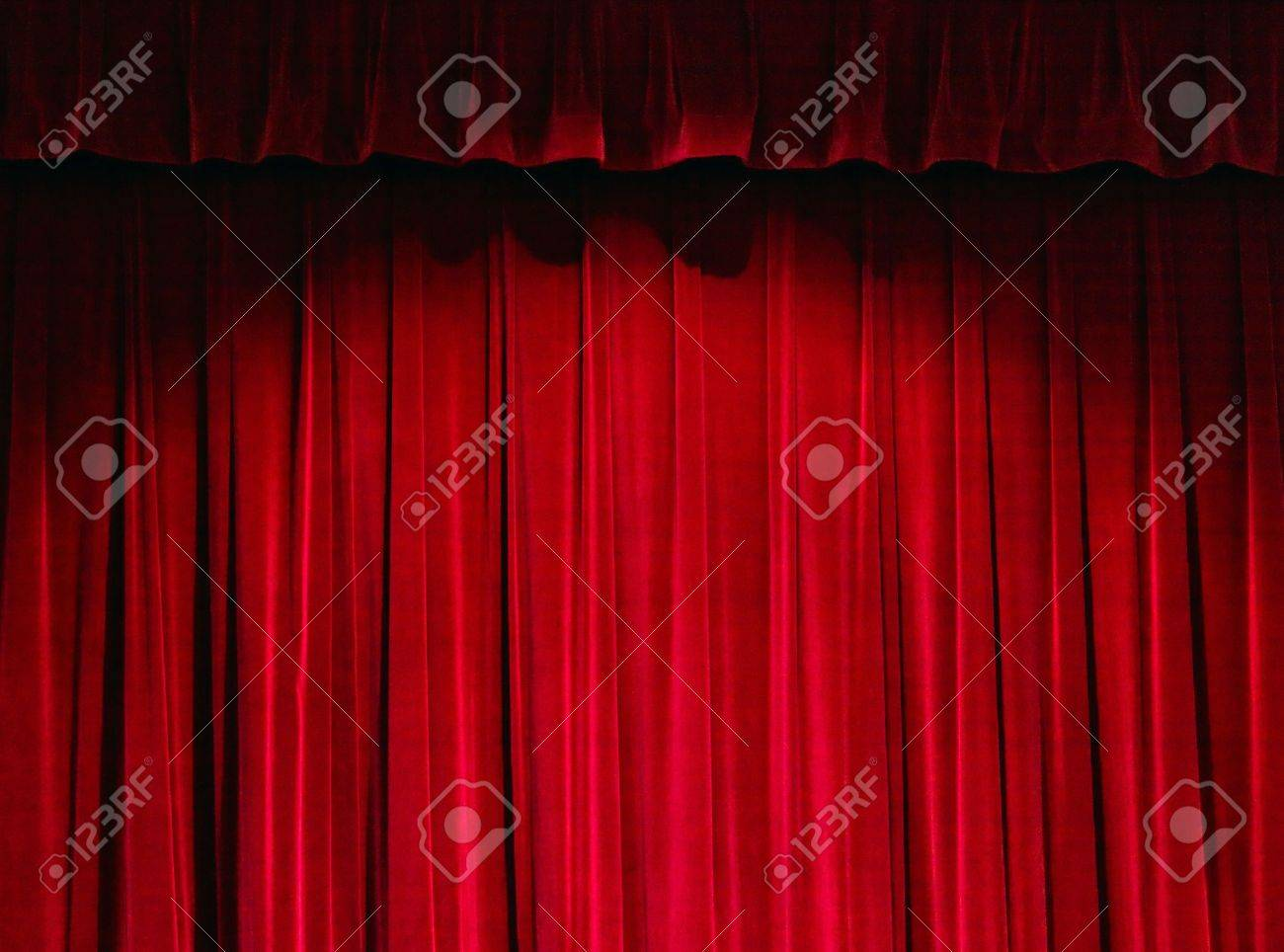 Closed theater curtains - Red Theater Curtain Stock Photo 3160722