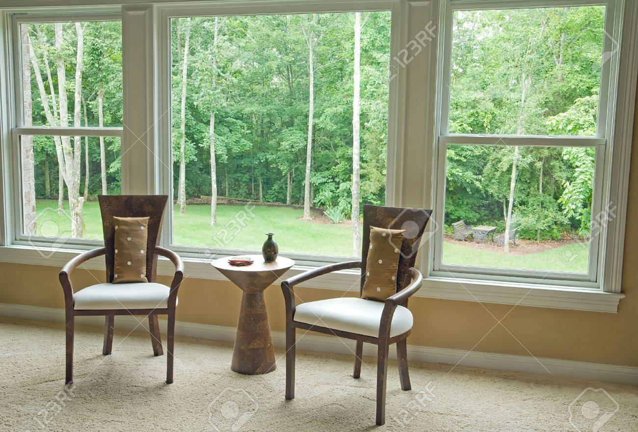 Interior Setting By Window Showing Outside View Stock Photo - 3255379
