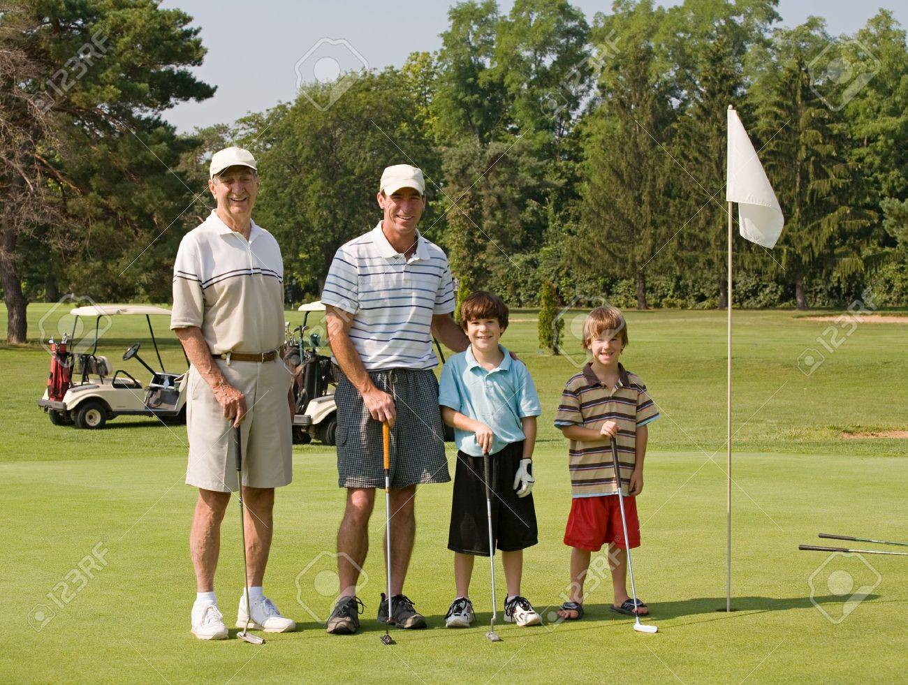 Family Playing Golf Stock Photo - 3551249