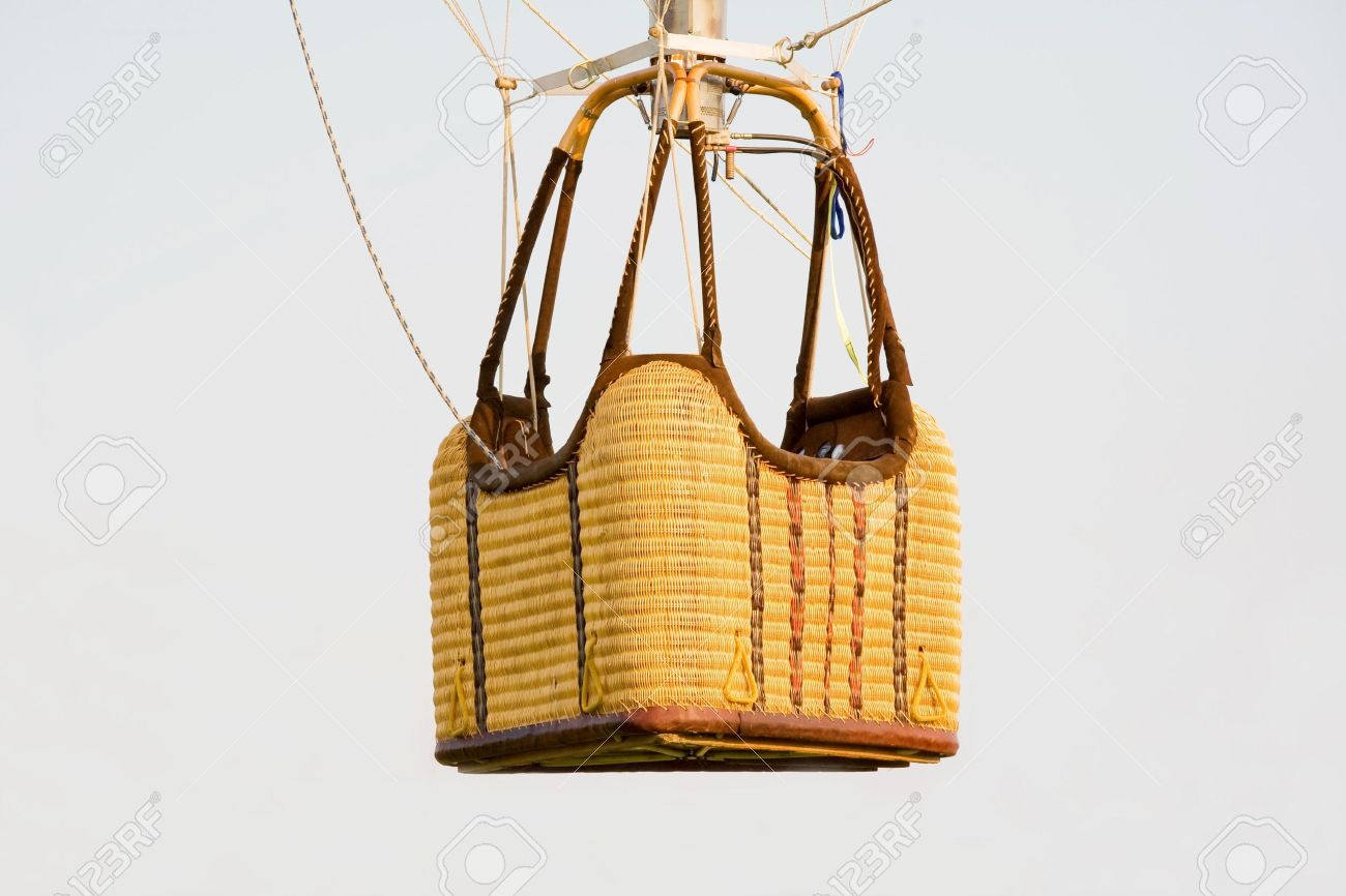 Empty Hot Air Balloon Basket Stock Photo Picture And Royalty Free