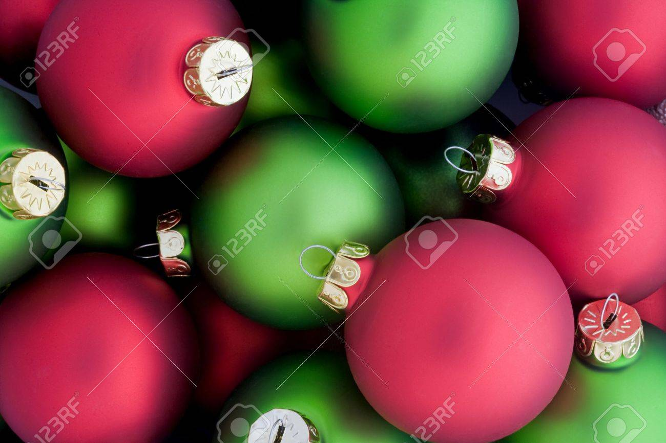 Red and Green Christmas Ornaments Stock Photo - 3799371