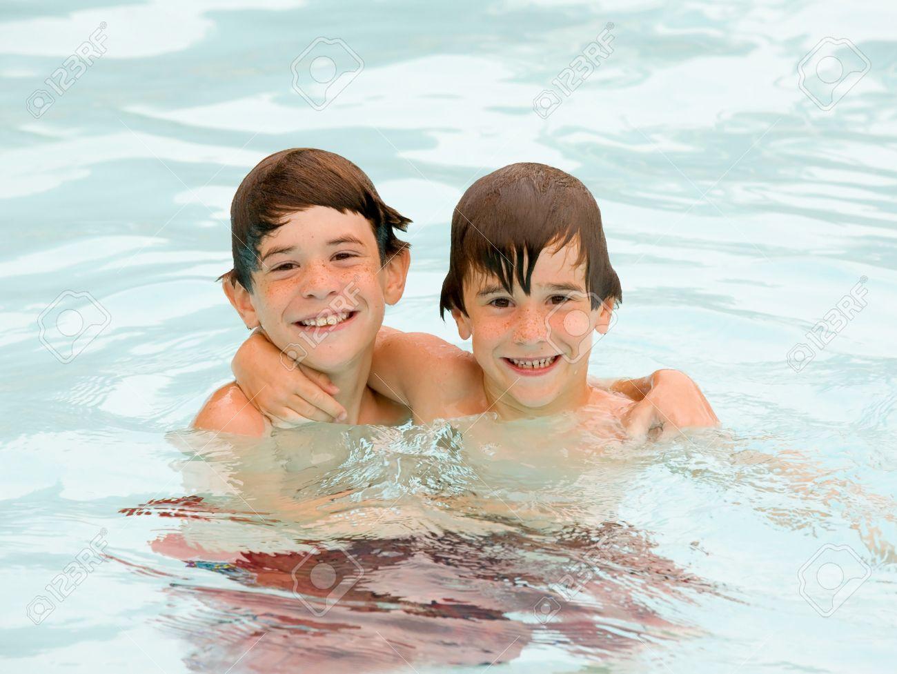 Boys Having a Fun Time at the Pool - 4568805