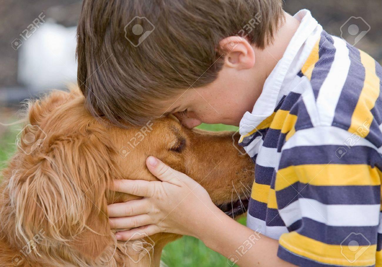 Little Boy Being Affectionate - 4661844