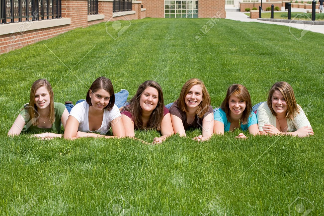 Group of College Girls Stock Photo - 4838659
