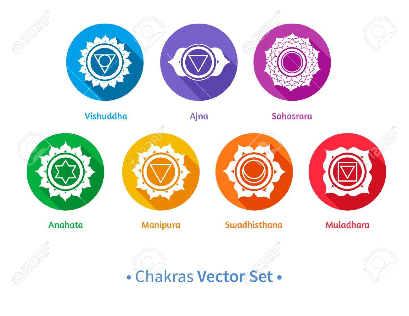 Chakra stock photos royalty free business images vector set of chakra symbols illustration buycottarizona Image collections