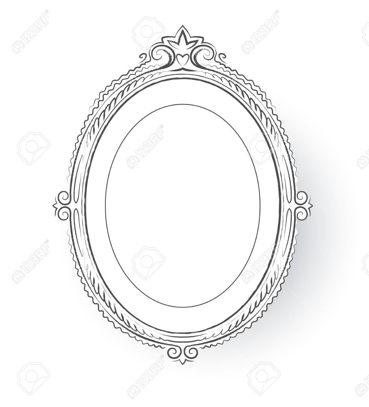 Vector Illustration Of Vintage Baroque Frame. Royalty Free Cliparts ...