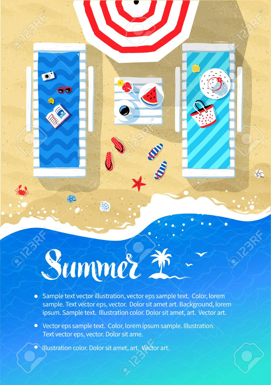 summer vacation flyer design royalty free cliparts vectors and