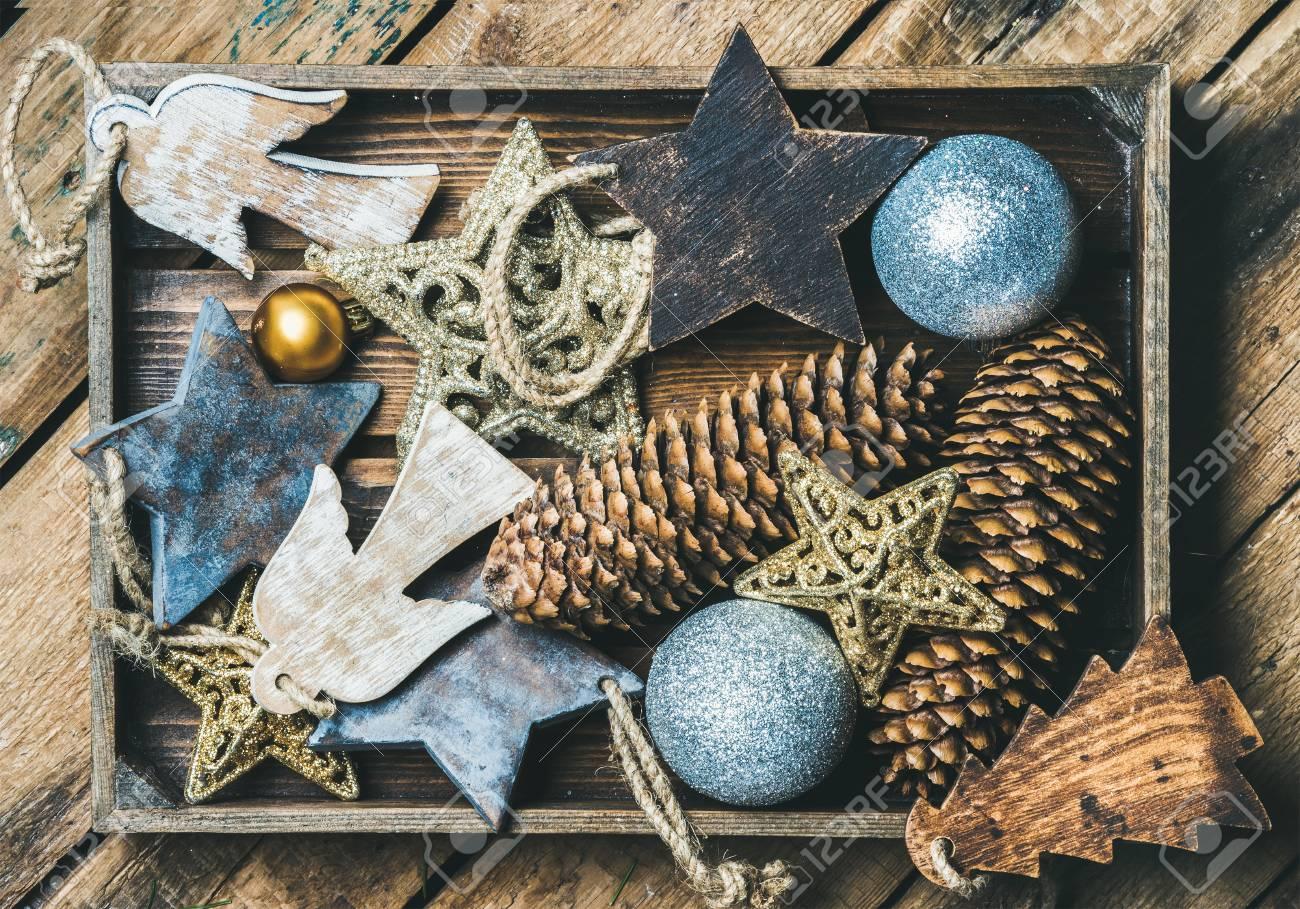 Angel Shaped Christmas Tree.Christmas Tree Glittering Toy Stars Balls Pine Cones And Angel