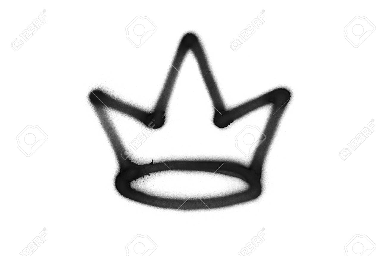 Graffiti Crown Sign Sprayed On White Isolated Background Corona Stock Photo Picture And Royalty Free Image Image 136343733
