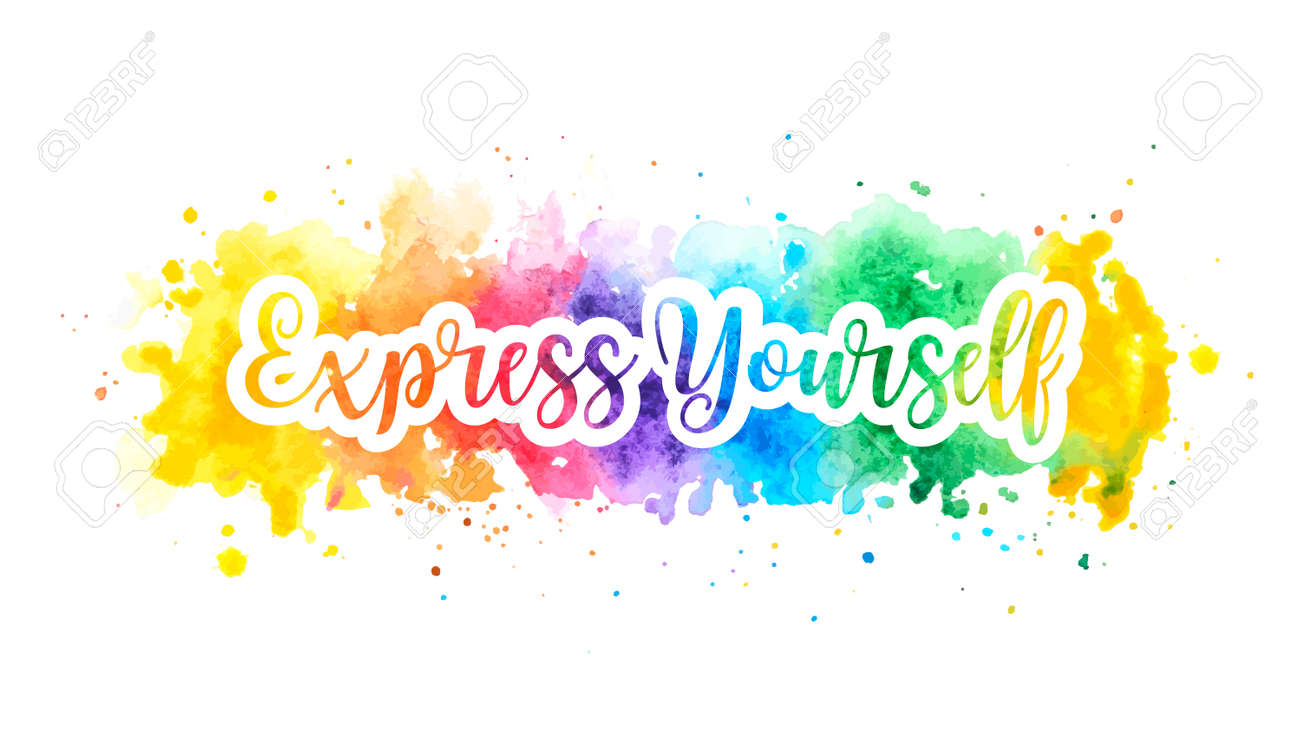 Express yourself concept, motivation poster. - 154747503