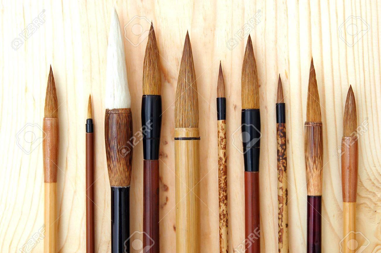 Chinese, Japanese, and Korean brush Stock Photo - 3865617