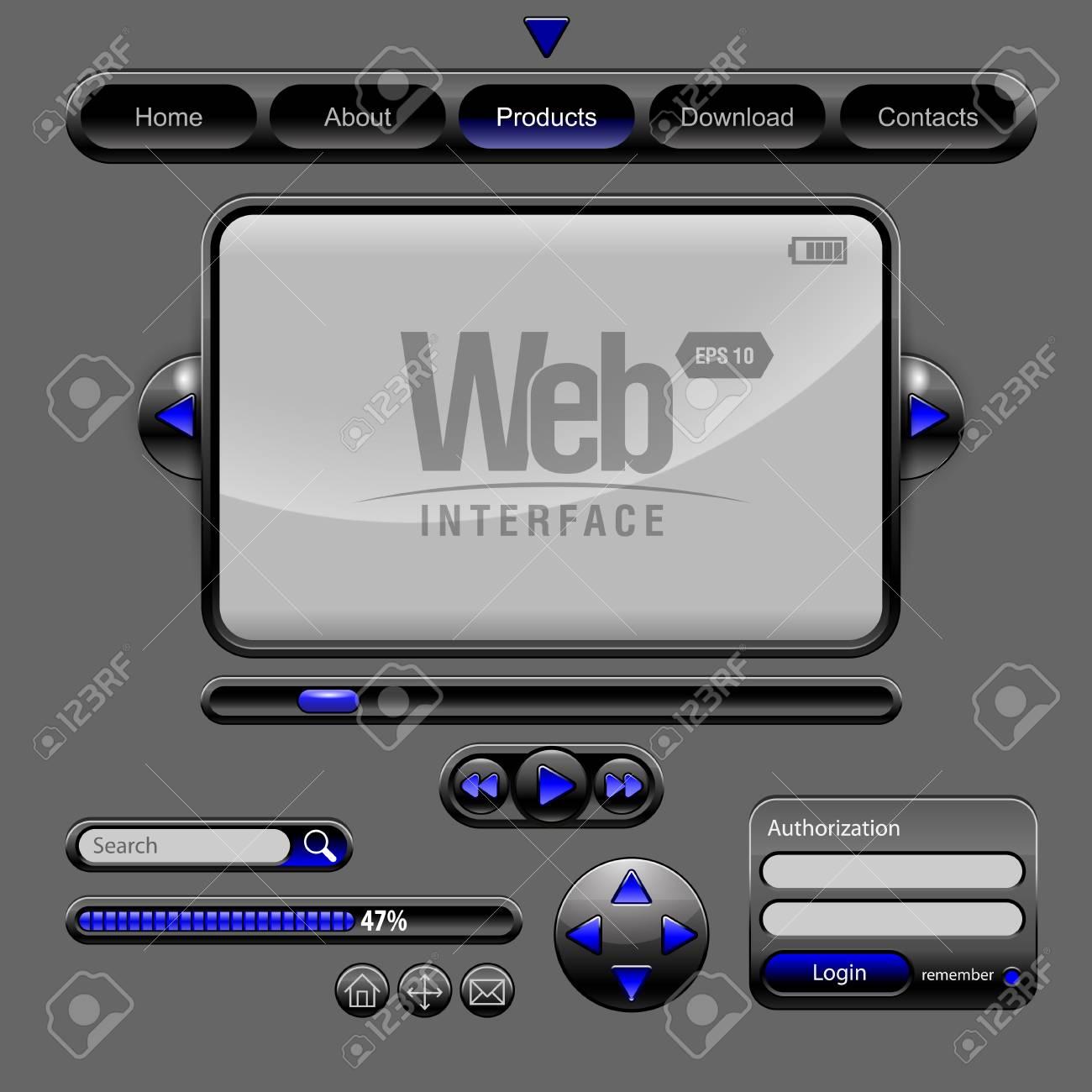 Web UI Elements Stock Vector - 12901482