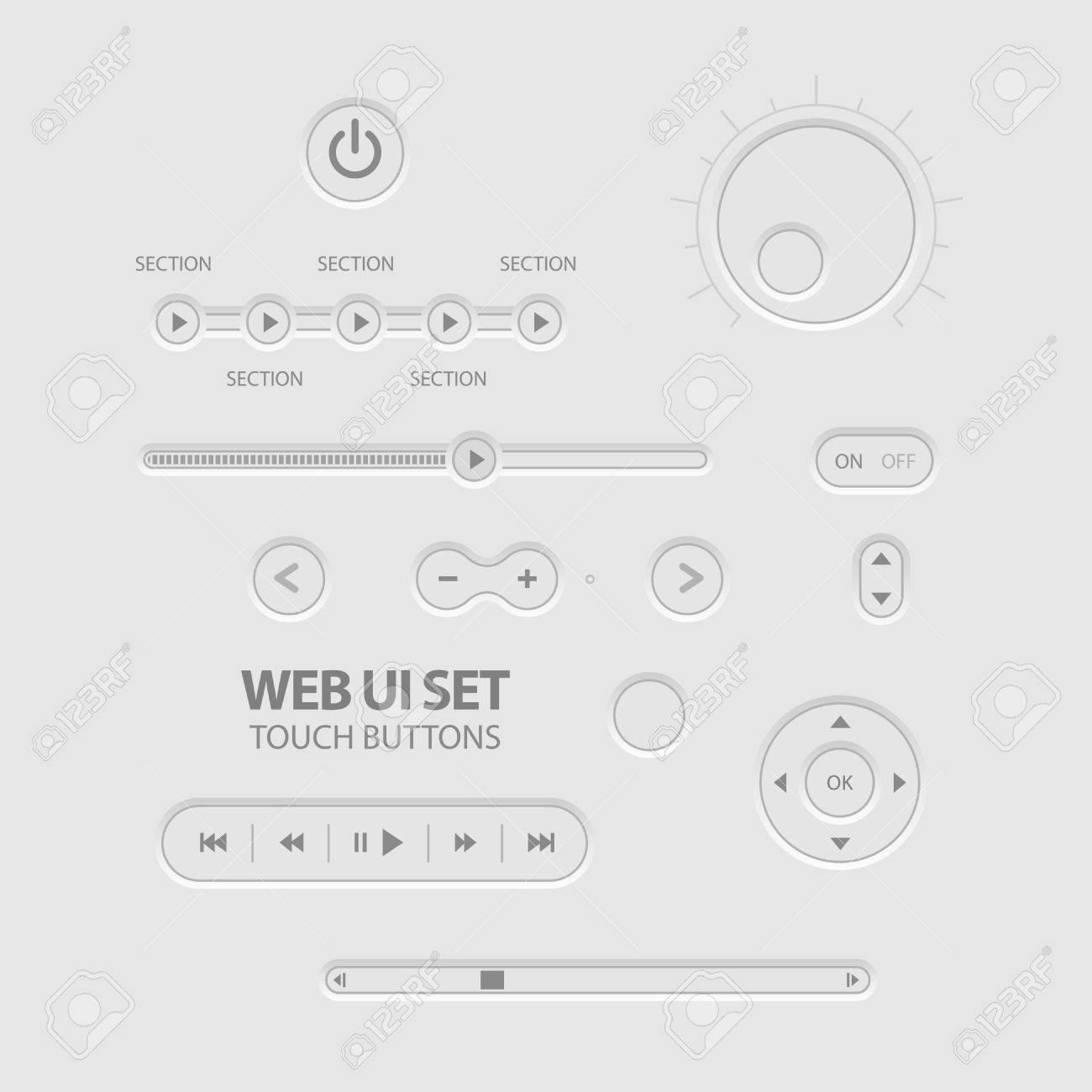 Light Web UI Elements Design Gray Stock Vector - 13306887