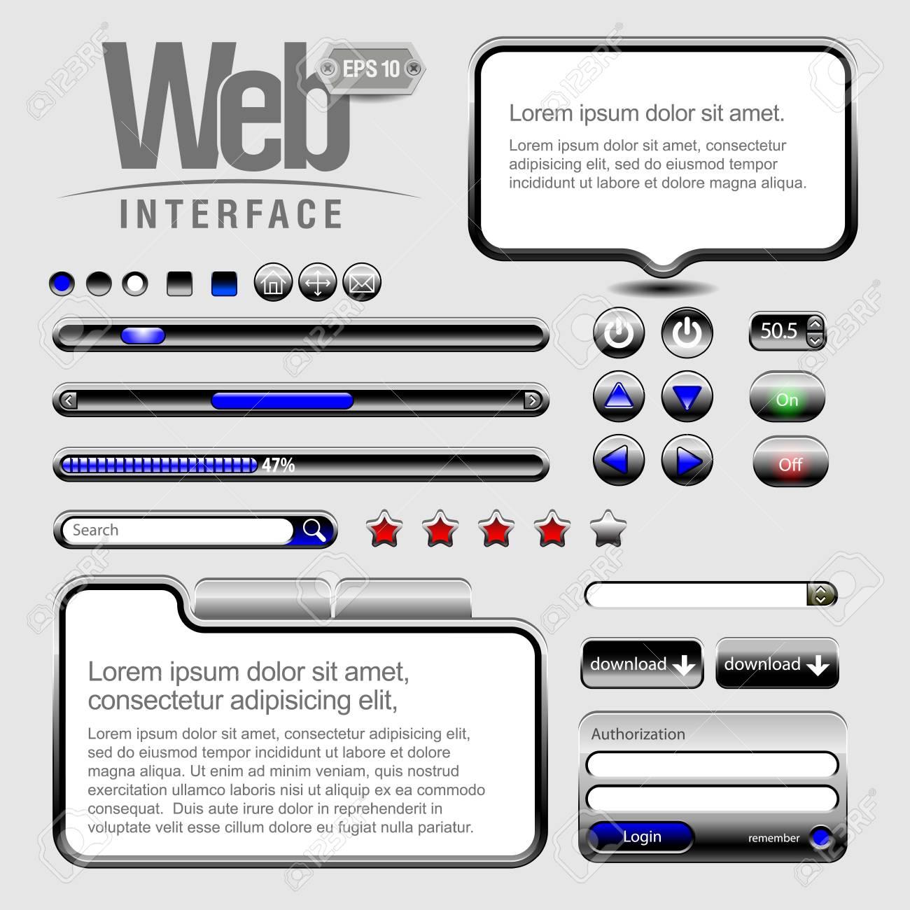 Web UI Elements Stock Vector - 13759231