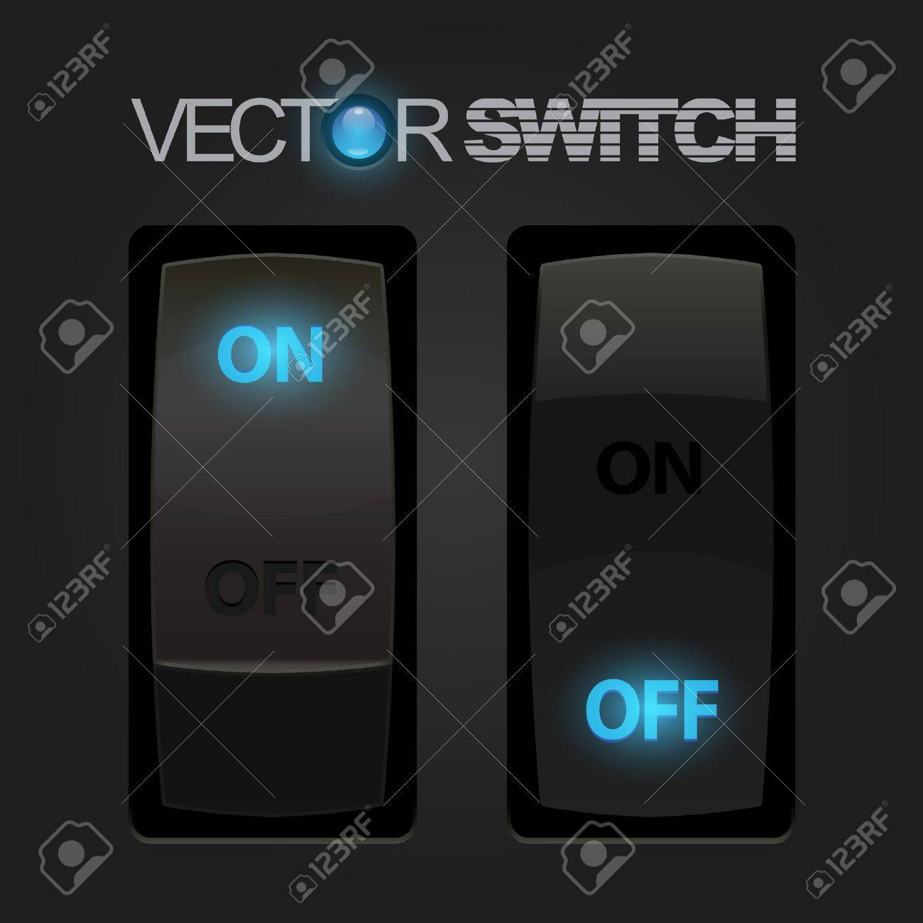 Cool Realistic Toggle Switch  Vector Stock Vector - 14936848