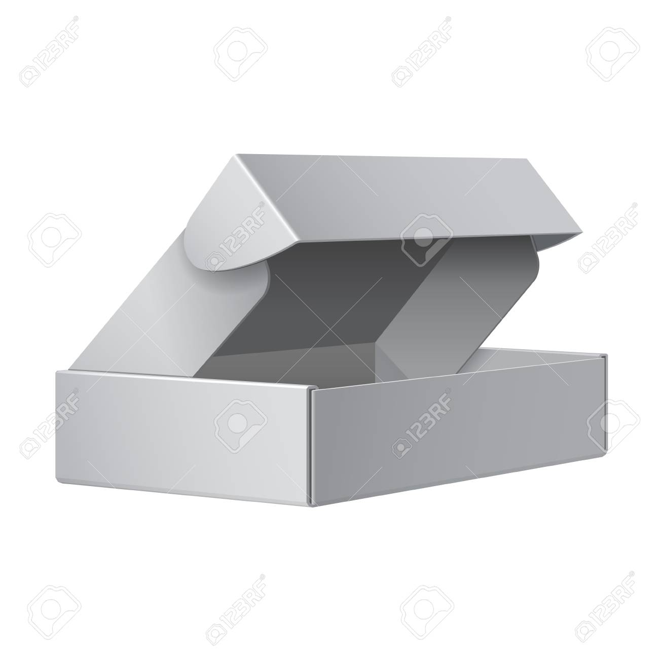 White Package Box Opened  For electronic device Stock Vector - 16358694