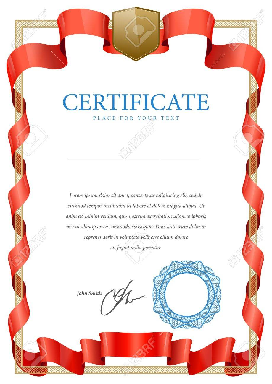 Certificate  Vector pattern that is used in currency and diplomas Stock Vector - 20442397