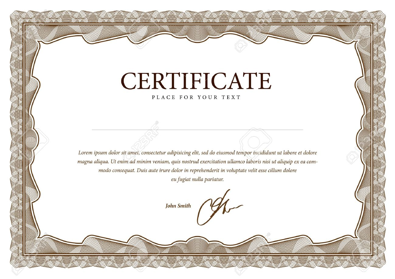 certificate vector pattern that is used in currency and diplomas rh 123rf com vector certificate frame vector certificate background
