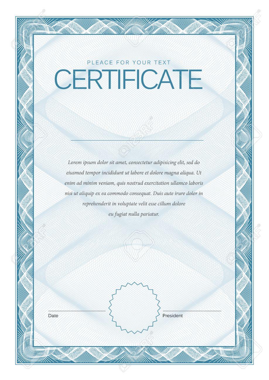 Сертификат Премия фон Подарочный сертификат Шаблон дипломы  Сертификат Премия фон Подарочный сертификат Шаблон дипломы валют Векторная иллюстрация Фото со стока
