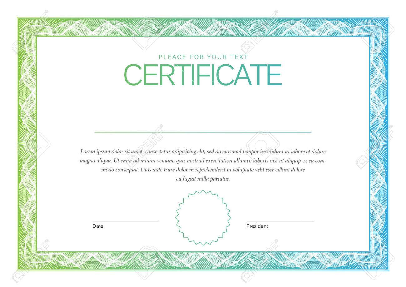 Certificate Award Background Gift Voucher Template Diplomas Currency Vector Illustration