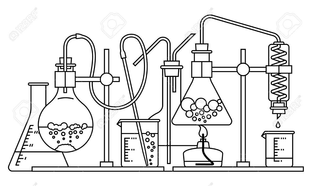 chemical glassware icon. The test tube beaker flask - 43130770