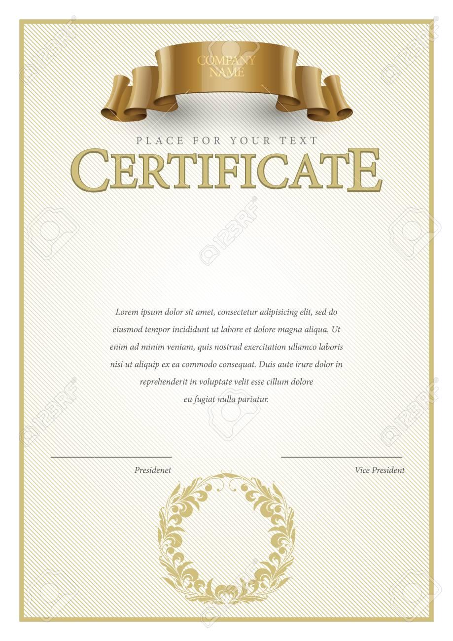 Certificate. Auszeichnung Hintergrund. Gutschein. Template Diplome ...
