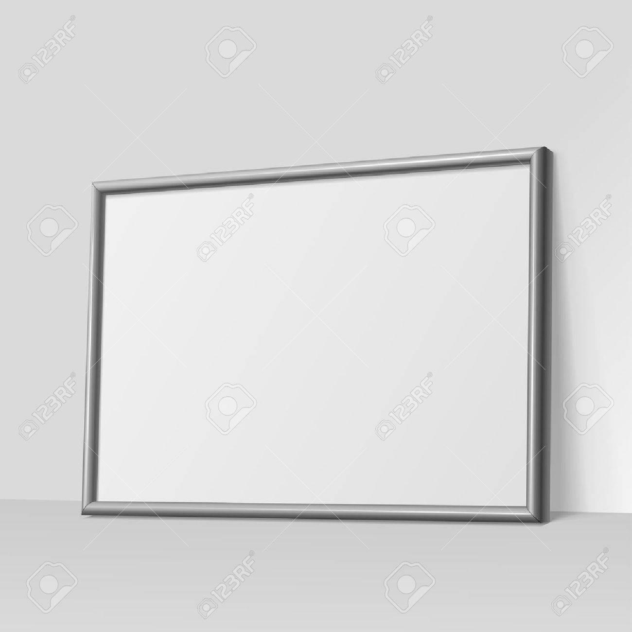 Realistische Dunkelgrauen Horizontalen Rahmen Für Bilder Oder ...