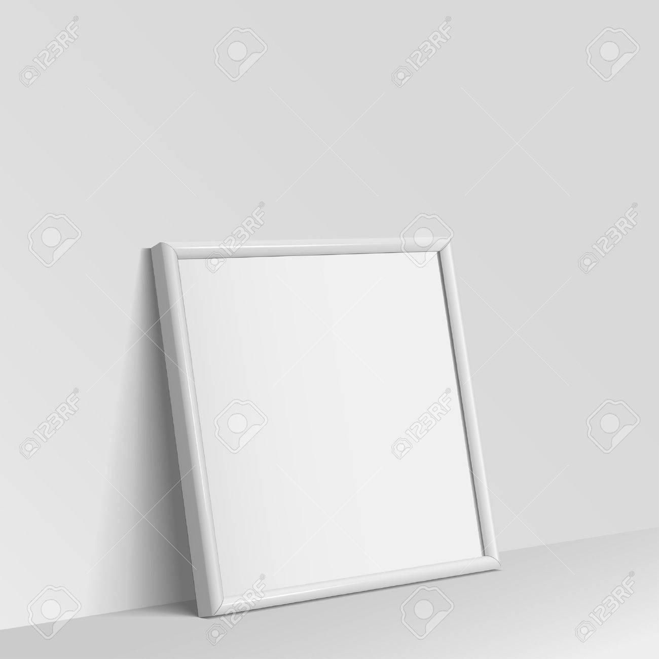 Realistische Weiße Quadratische Form Rahmen Für Bilder Oder ...