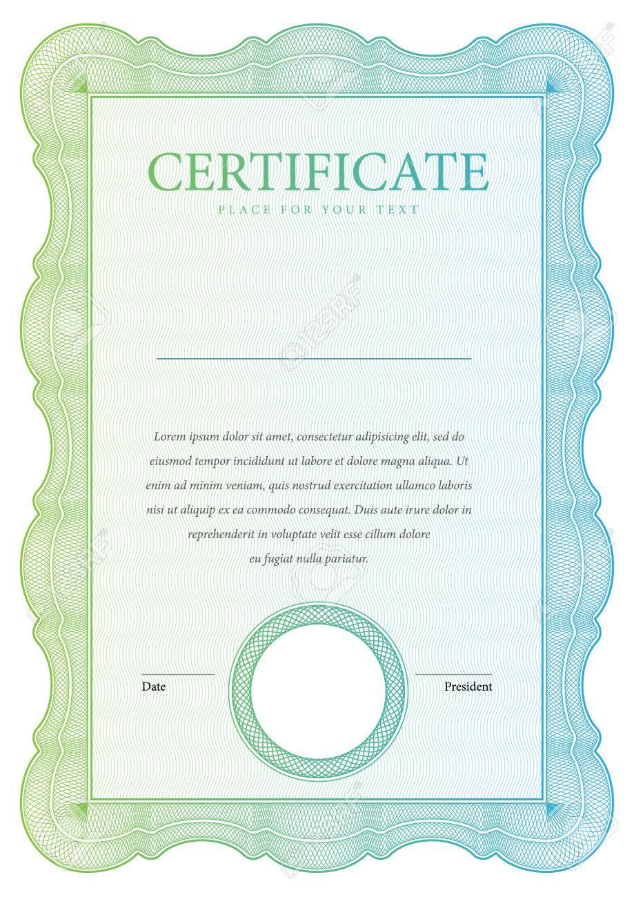 Vintage Certificate Award Background Gift Voucher Template