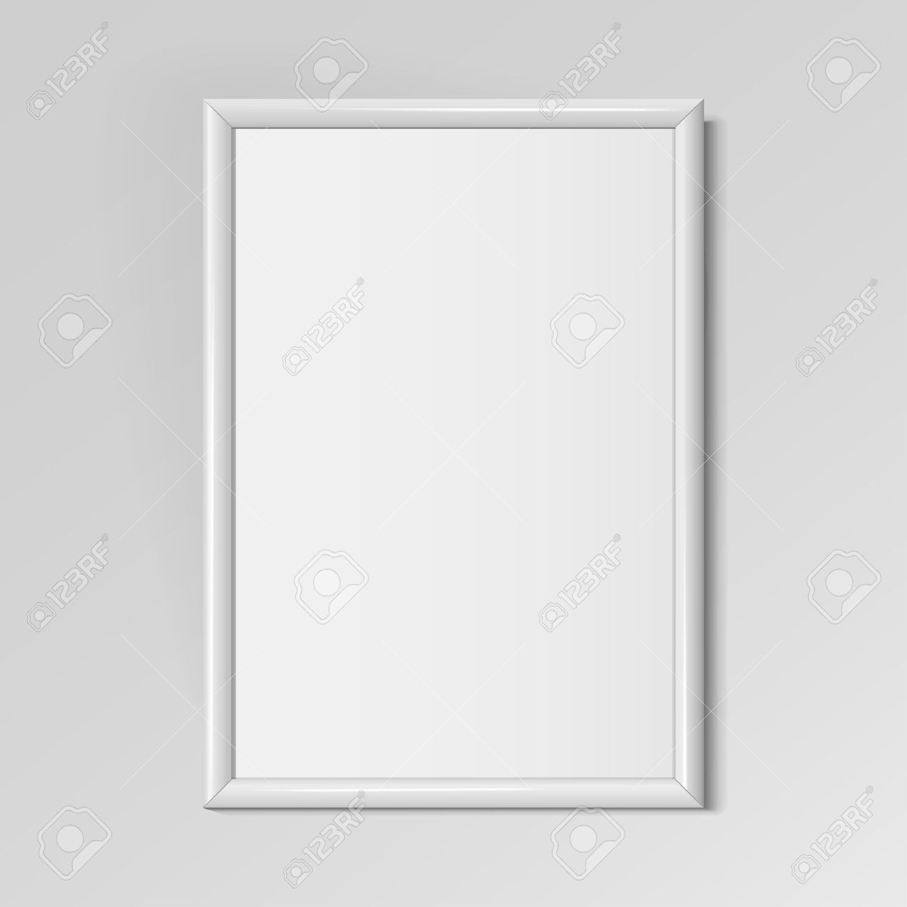 Realistic White Vertical Frame For Paintings Or Photographs Hanging ...