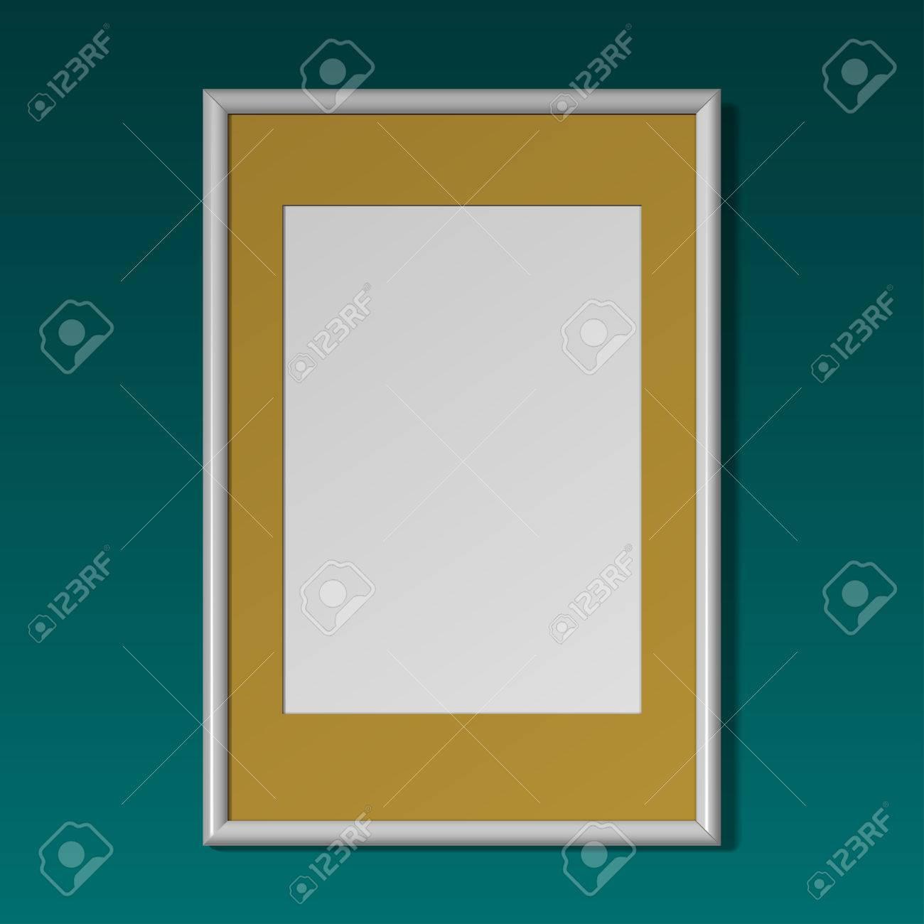 Realistische Vertikale Rahmen Für Bilder Oder Fotografien An Der ...