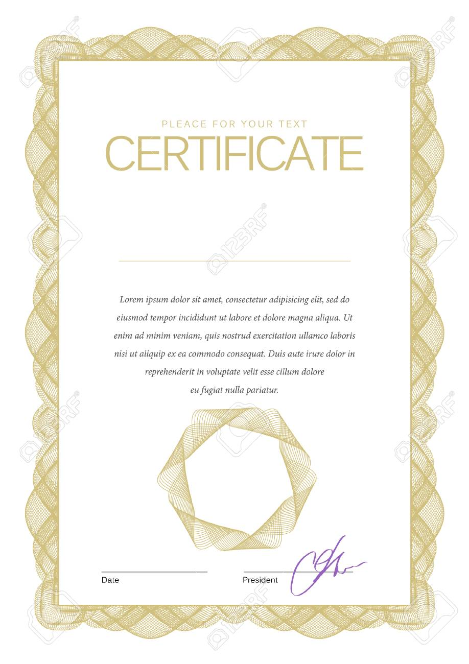 Vintage Certificate Award Background Gift Voucher Template