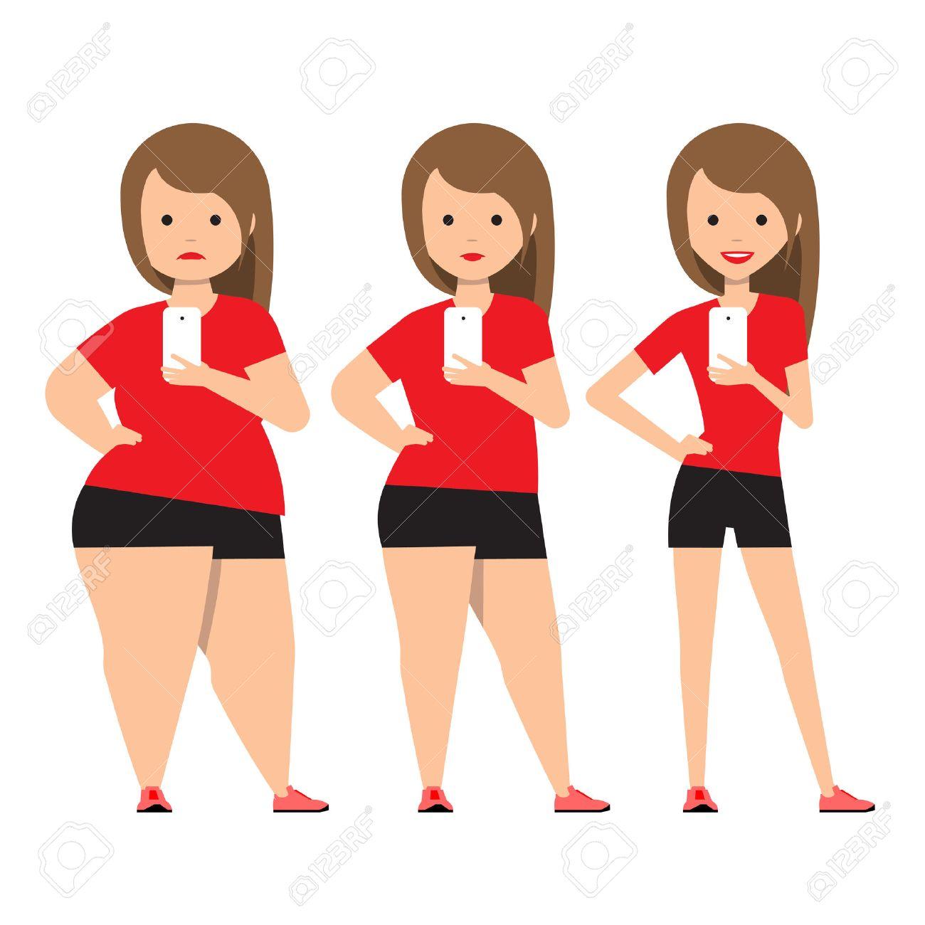 Stufen Gewichtsverlust