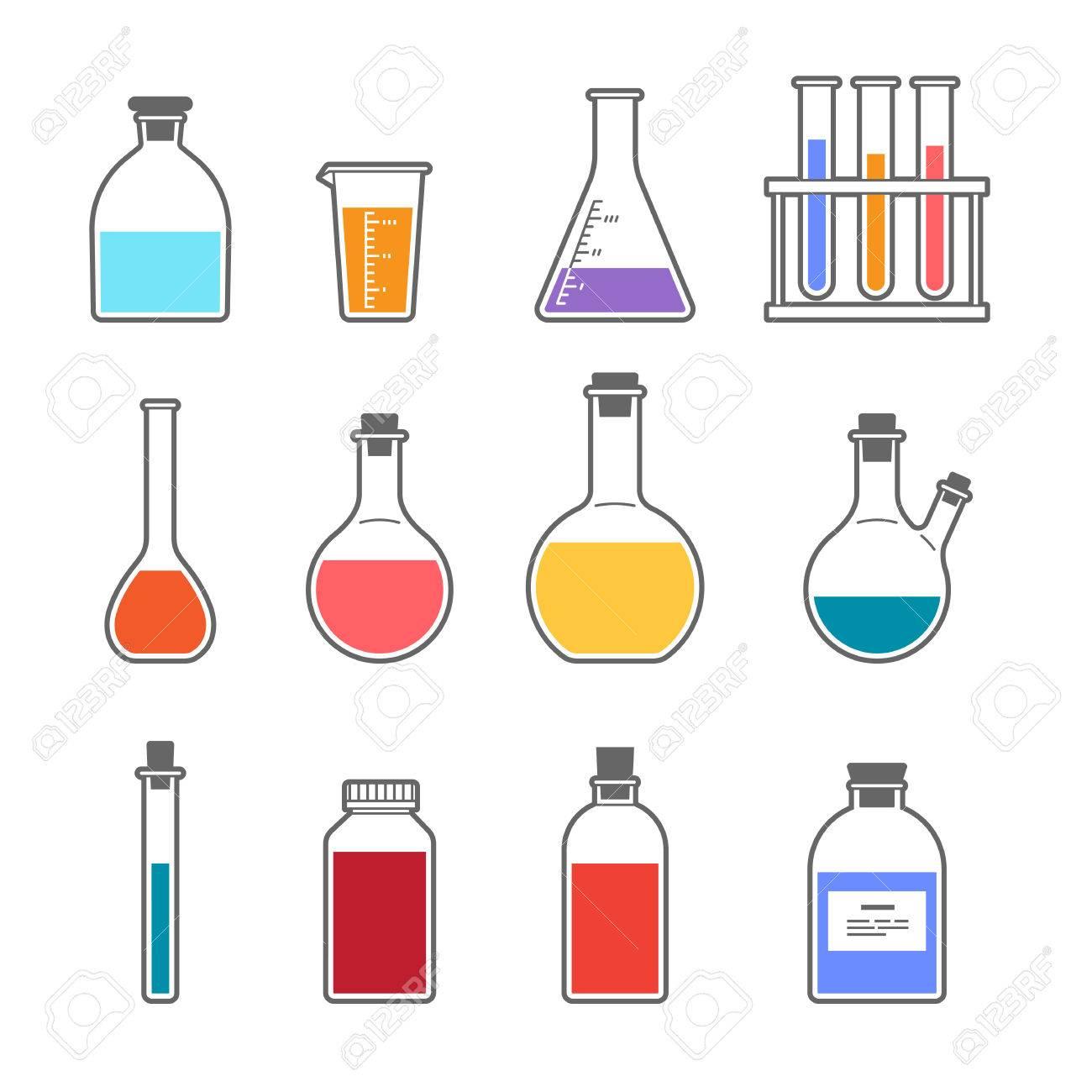 set chemical flask erlenmeyer flask distilling flask, volumetric