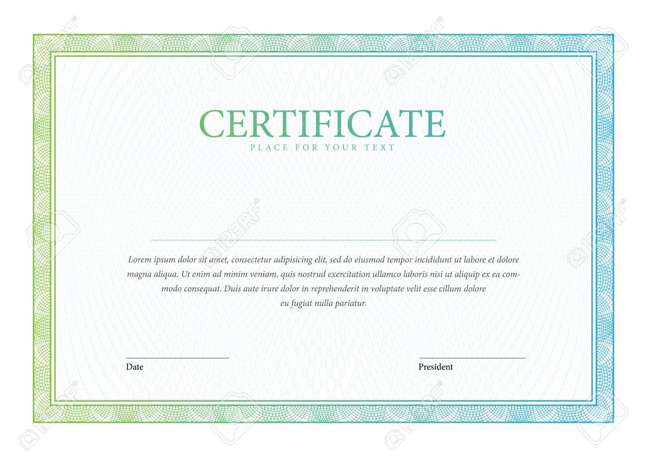 Zertifikat. Vector Vorlage Diplome Währung. Auszeichnung Hintergrund ...