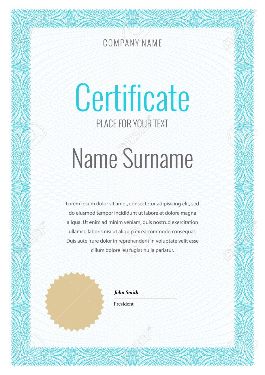 Certificate. Template Diploma Currency. Award Background Gift ...