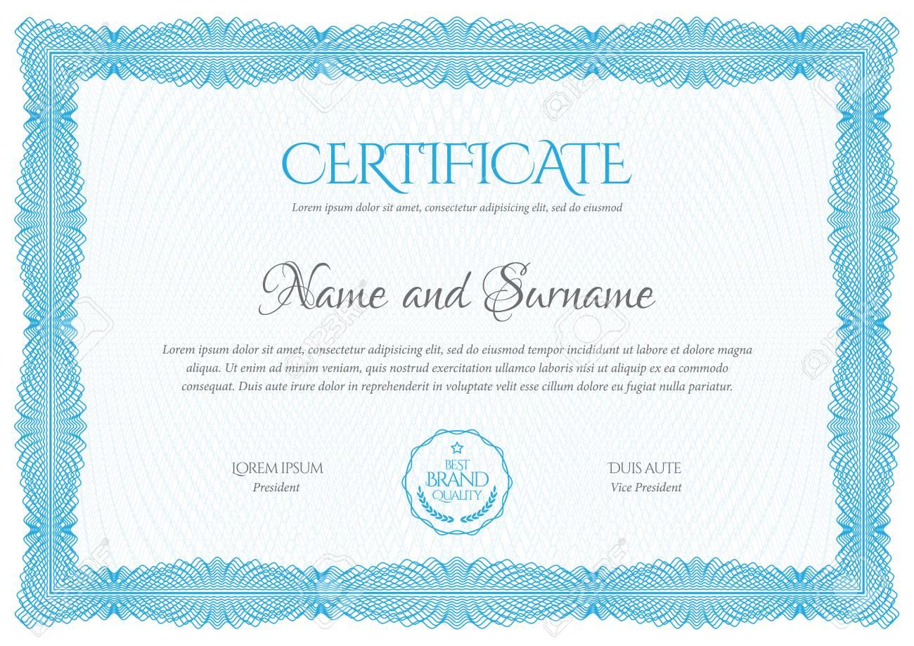 Certificate Template Diploma Currency Border Lizenzfrei Nutzbare
