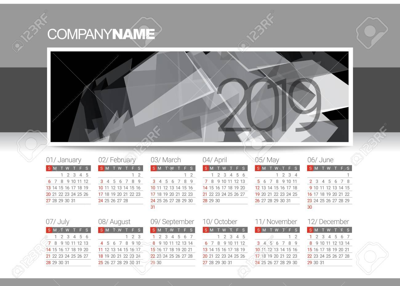 Blank Template Calendar from previews.123rf.com